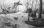 Duck Hunting Drawings - Cloaked by Peter Piatt