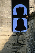Belief Metal Prints - Clocher de Lourmarin village du Luberon Metal Print by Bernard Jaubert