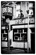 Interior Scene Photo Prints - Clock Bar Print by John Rizzuto