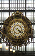 Museum Orsay Clock Posters - Clock in the Musee dOrsay Poster by Will & Deni McIntyre