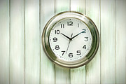 Analog Photos - Clock on the wall by Sandra Cunningham