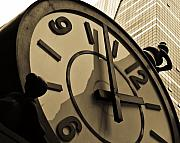 Featured Digital Art Metal Prints - Clock Metal Print by Roberto Bravo