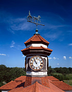 Weathervane Photo Prints - Clock Tower And Weathervane, Longview Print by Everett