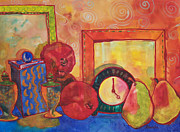 Impressionism Glass Framed Prints - Clock Work Framed Print by Blenda Tyvoll