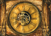 Watchmaker Photos - Clockmaker - Clock Works by Mike Savad