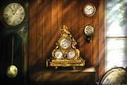 Clockmaker Posters - Clockmaker - Clocks Poster by Mike Savad