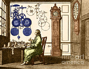 Engraving Photo Posters - Clockmaker Poster by Photo Researchers