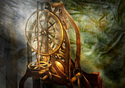 Green Movement Framed Prints - Clockmaker - The day time stood still  Framed Print by Mike Savad