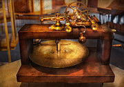 Watchmaker Posters - Clocksmith - The gear cutting machine  Poster by Mike Savad