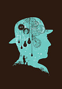 Brain Prints - Clockwork Print by Budi Satria Kwan