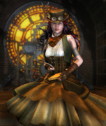 Steampunk Art - Clockwork by Karen Koski