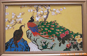 Oriental Ceramics - Cloisonne Enamel Craft Painting by Yingchen