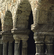 Religious Art Photos - Cloister of Lavaudieu. Haute Loire. Auvergne. France. by Bernard Jaubert