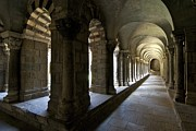 Auvergne Prints - Cloister of Puy en Velay. Auvergne. France Print by Bernard Jaubert
