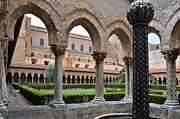 Monreale Posters - Cloister of the abbey of Monreale. Poster by RicardMN Photography
