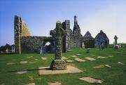 Grave Site Prints - Clonmacnoise, Co Offaly, Ireland, West Print by The Irish Image Collection