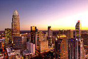 Dnc Framed Prints - Close-in Charlotte NC skyline photo Framed Print by Patrick Schneider