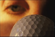 Sporting Goods Posters - Close Study Of A Dimpled Golf Ball Poster by Joel Sartore
