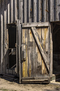 Board And Batten Siding Framed Prints - Close the Barn Door Framed Print by Lynn Palmer