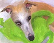 Greyhound Dog Metal Prints - Close to My Heart Metal Print by Jai Johnson