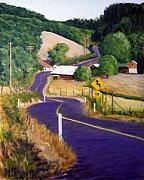California Vineyard Paintings - Close To Town...but Country by Bill Gittins