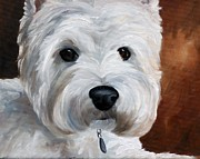 Canine Art - Close Up by Mary Sparrow Smith