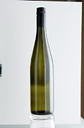 Wine Photography Photos - Close Up Of Bottle Of Riesling Wine by Brett Stevens
