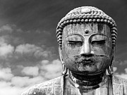 Male Likeness Prints - Close Up Of Buddha Statue In Kamakura, Japan Print by Marcus Smith