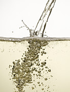 White Wine Framed Prints - Close Up Of Champagne Being Poured Framed Print by Andy Roberts
