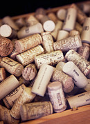 Wine Cork Collection Prints - Close-up Of Corks Print by Johner Images