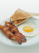 Sunny Side Up Egg Prints - Close Up Of English Breakfast, Studio Shot Print by Jamie Grill