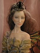 Fantasy Sculptures - Close Up of Fairy Princess by Bonnie Jones