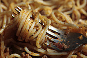 Italian Photos - Close up of fork with spaghetti by Cristina Lichti