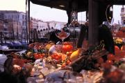 Italian Market Prints - Close-up Of Fruits And Wine A Glass Print by Gianluca Colla