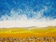 Landscape-like Art Paintings - Close Up of Golden Horizon by Paul Tokarski