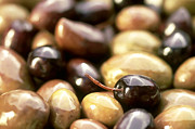 Black Olive Framed Prints - Close-up Of Olives Framed Print by Frances Andrijich