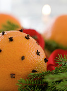 Banquet Photos - Close-up Of Orange Studded With Cloves by Bjurling, Hans