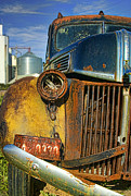 Broken Down Photos - Close up of Rusty Truck by Jill Battaglia