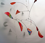 Shower Gift Paintings - Close Up of Sandys Abstract Style Kinetic Mobile Sculpture by Carolyn Weir