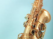 Wind Instrument Photos - Close-up Of Saxophone by Svenja Kaufmann