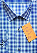 Close-up Of Shirt With Happy Father's Day Tag Print by Andrew Kolb