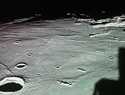 Orbiting Prints - Close-up Of The Craters On The Surface Of The Moon Print by Stockbyte