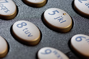 Push Button Prints - Close-up Of The Keypad On A Mobile Phone Print by Martin Ruegner