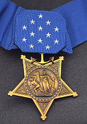 Star Shape Framed Prints - Close-up Of The Medal Of Honor Award Framed Print by Stocktrek Images