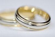 Wedding Ring Framed Prints - Close up of two wedding rings Framed Print by Sami Sarkis