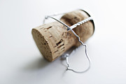 Champagne Posters - Close Up Of Unscrewed Champagne Cork Poster by Brett Stevens