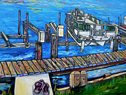 Flip-flops Paintings - Close up of your boat by Patti Schermerhorn