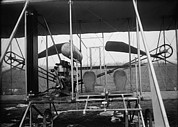 Bi Planes Photos - Close-up View Of A 1911 Wright Airplane by Everett