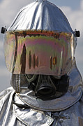 Obscured Face Art - Close-up View Of A Firefighter by Stocktrek Images