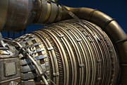 Mechanism Prints - Close-up View Of A Rocket Engine Print by Roth Ritter